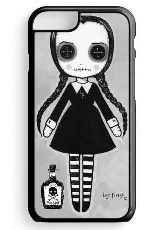 Black Willow Gallery Wednesday Addams Doll iPhone 6 Case