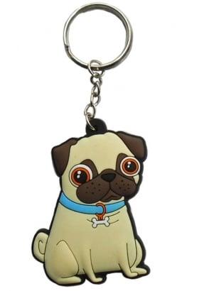 Blue Collar Pug Keyring