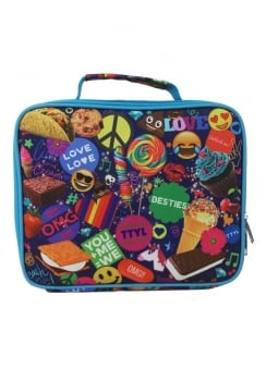 Blue Stickers Lunch Box