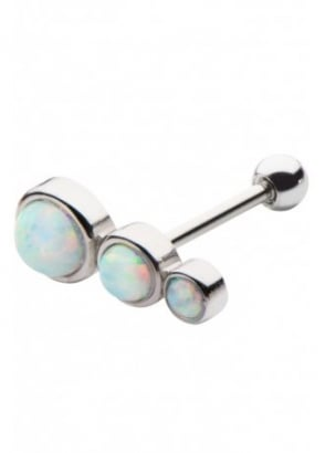 3 Round Opal Cartilage Earring