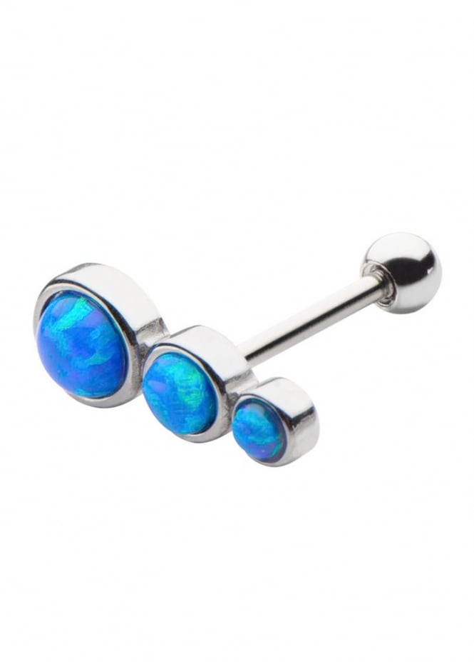 Body Vibe 3 Round Opal Cartilage Earring