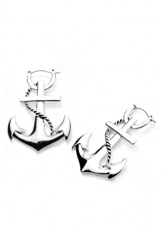 Body Vibe Anchor Hoop Earrings