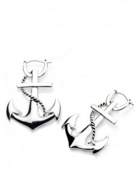Anchor Hoop Earrings
