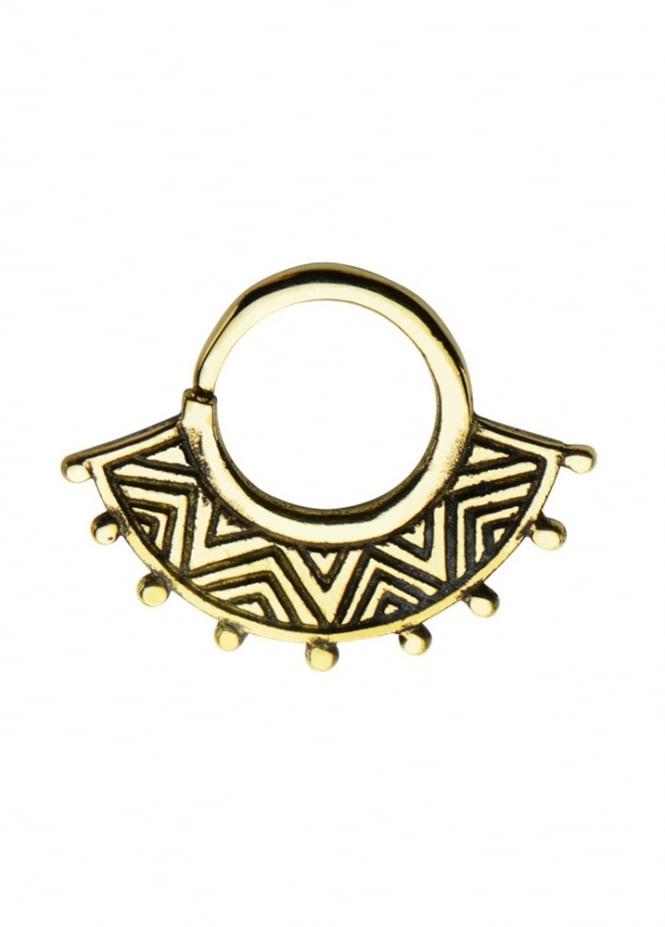 Body Vibe Aztec Brass Septum Ring 10mm