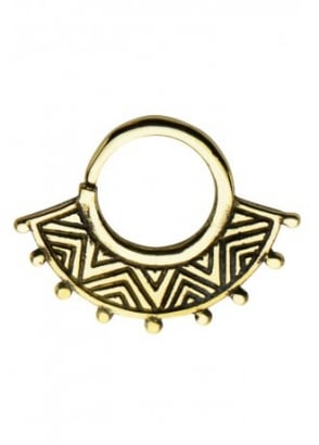 Aztec Brass Septum Ring 10mm