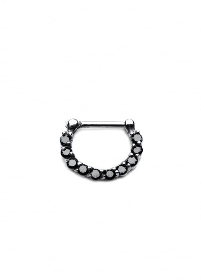 Body Vibe Black Crystal Septum Clicker