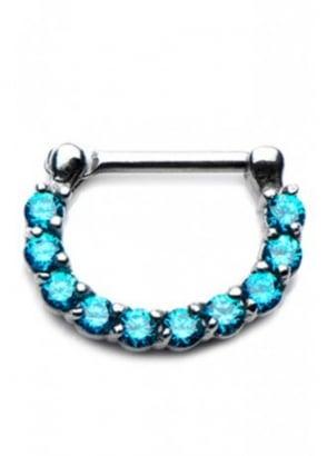 Blue Crystal Septum Clicker