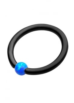 Blue Opal Captive Bead Ring