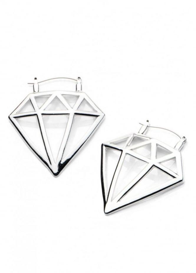 Body Vibe Diamond Hoop Earrings