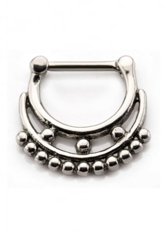Body Vibe Double Row Beads Septum Clicker