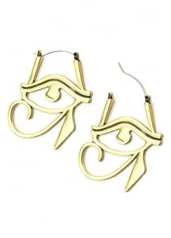 Egyptian Eye Plug Hoop