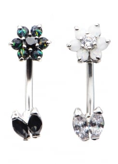 In & Out Flower Navel Bar