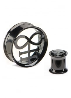Leviathan Cross PVD Plated Tunnel Plugs
