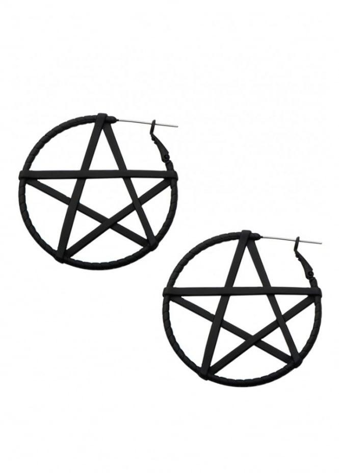 Body Vibe Pentagram Hoop Earrings