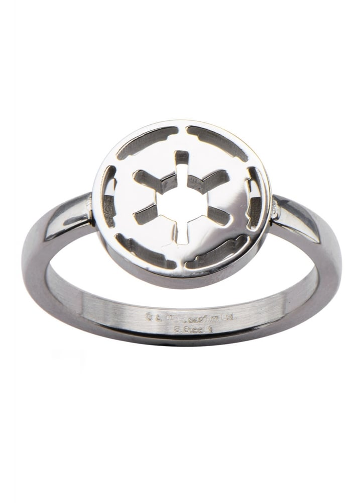 Bodyvibe Star Wars Galactic Empire Symbol Ring Attitude Clothing