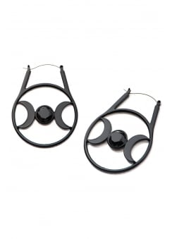 Triple Moon Plug Hoop