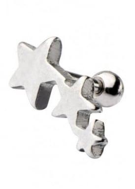 Triple Star Cartilage Earring