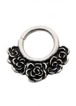 White Brass Rosa Septum Ring