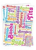 Boob Words Wrapping Paper