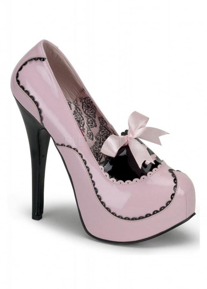 Bordello Shoes Teeze-01 Bow Trim Shoe