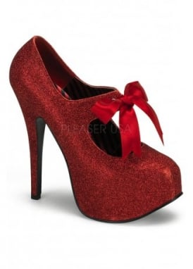 Teeze-04G Glitter Bow Shoe