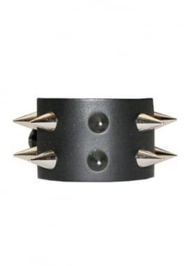 2 Row Conical Spike Stud Wristband