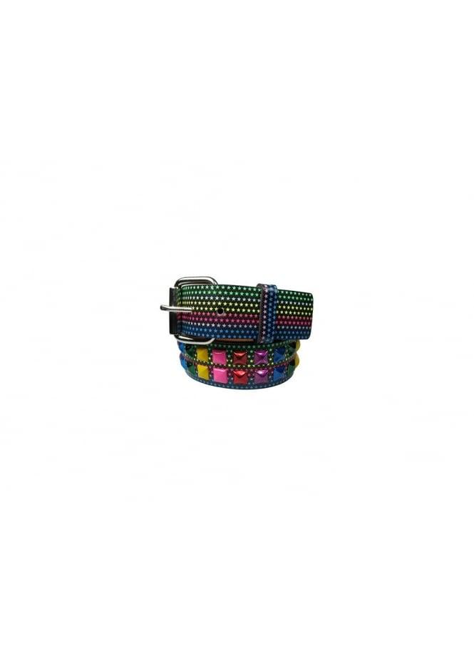 Bullet 69 2 Row Multicoloured Star Stud Belt