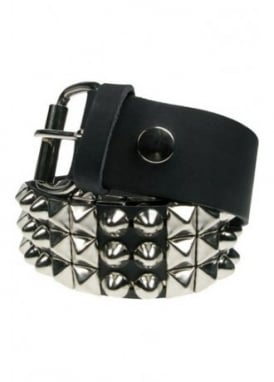 3 Row Pyramid & Conical Dome Stud Belt
