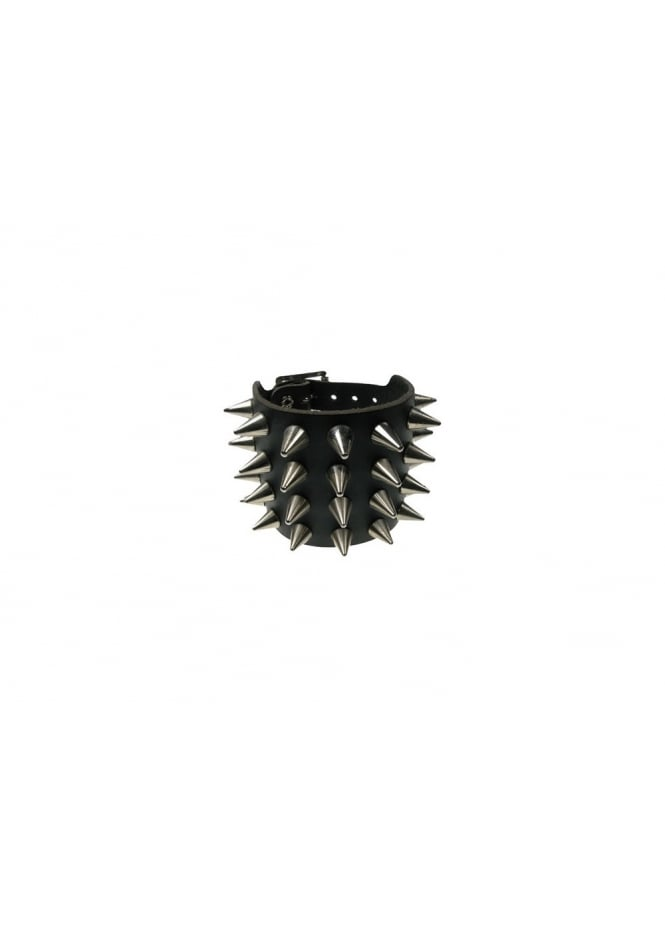 Bullet 69 4 Row Conical Spike Stud Wristband