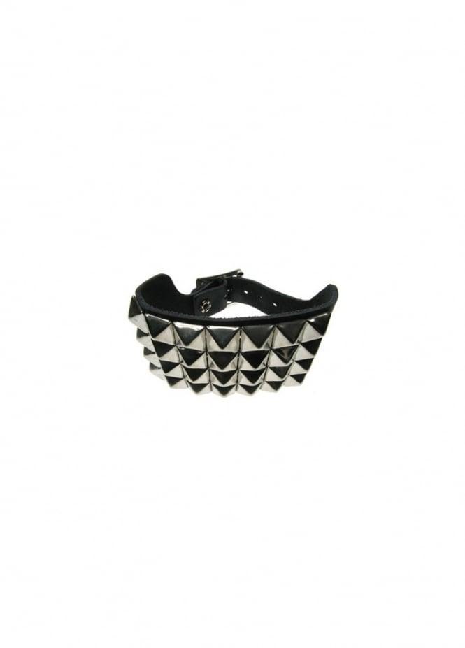 Bullet 69 4 Row Pyramid Stud Wristband