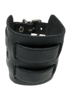 Double Strap Leather Cuff