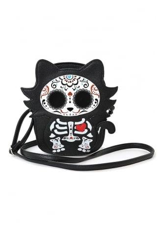 Cat Tattooed Skeleton Shoulder Bag