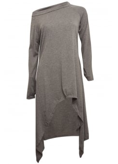 Charcoal Asymmetrical Extra Length Top