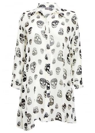 Chiffon Skull Shirt