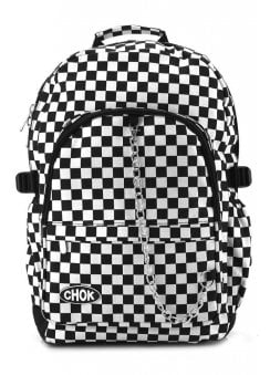 Checker Black & White Backpack