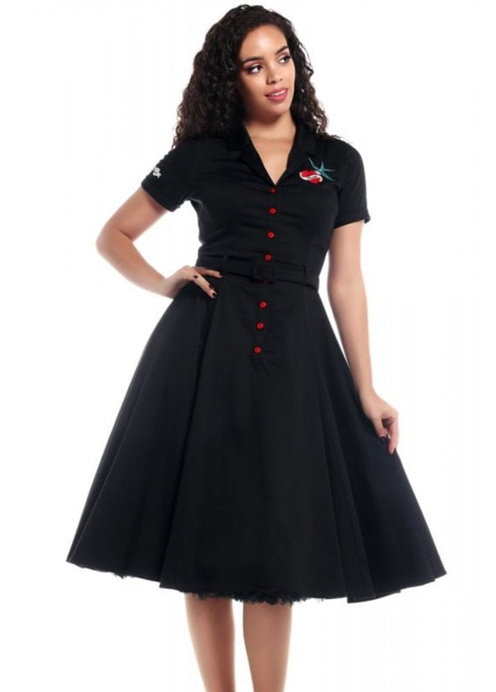 c9d4936550054 Collectif Caterina True Love Swing Dress | Attitude Clothing