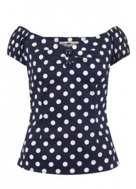 Dolores Polka Dot Retro Top