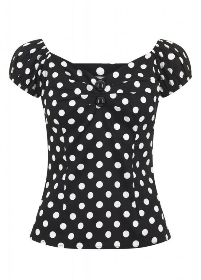 Collectif Clothing Dolores Polka Dot Top