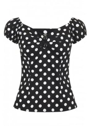 Dolores Polka Dot Top