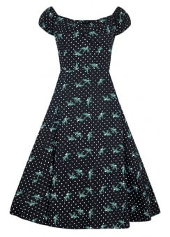 Dolores Rockabilly Swallows Doll Dress