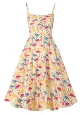 Fairy Flamingo Print Swing Dress