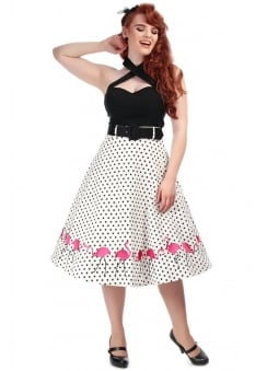 Fancy Flamingo Retro Swing Skirt