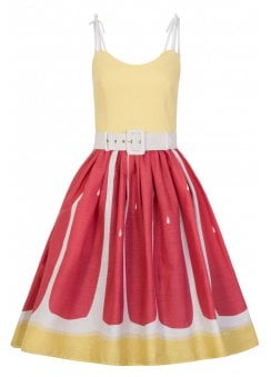 Jade Pink Grapefruit Retro Swing Dress