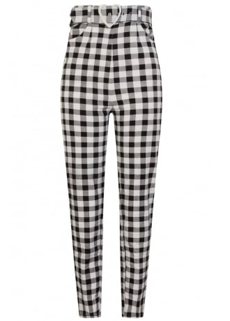 Collectif Clothing Jane Vintage Gingham Trousers