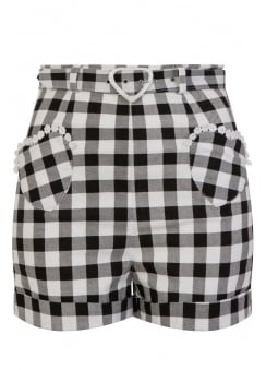 Lisa Vintage Gingham Retro Shorts