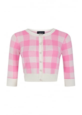 Collectif Clothing Lucy Gingham Retro Cardigan