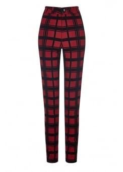 Maddie Check Flock Trousers