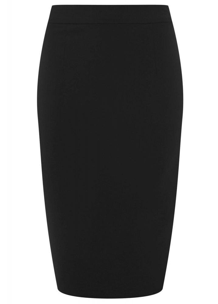 d604934cac Collectif Polly Plain Bengaline Skirt Black | Attitude Clothing