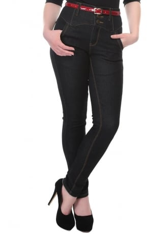 Collectif Clothing Rebel Kate Denim Jeans