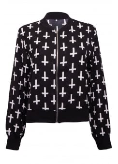 Cross Bomber Jacket